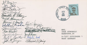 NASA Group 9 Signed Cover