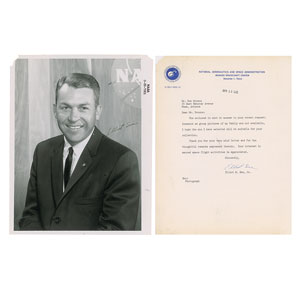 Elliot See Typed Letter Signed and Signed Photograph