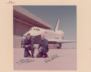 Fred Haise and Gordon Fullerton Signed Photograph
