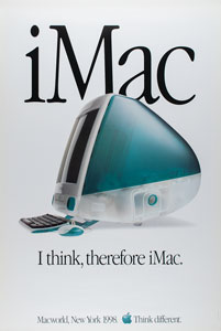Apple 1998 iMac Launch Poster