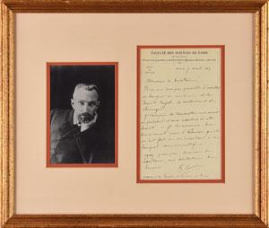 Pierre Curie Autograph Letter Signed