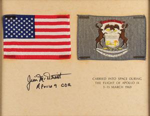 Apollo 9 Flown Flag Presentation Signed by Jim McDivitt