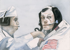Ron Woods Original Painting of Neil Armstrong