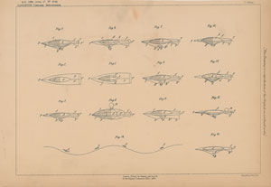 G. Gaggino Aerial Machine Patent Lithograph