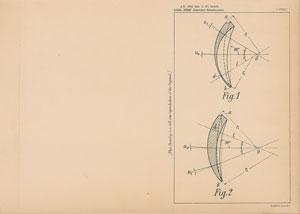 Carl Zeiss Lens Patent Lithograph