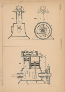Westinghouse and Rites Steam Engine Patent Lithograph