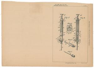 A. Dunbar Hypodermic Syringe Patent Lithograph