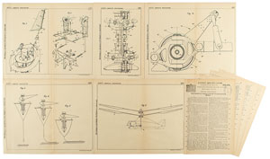 Louis Breguet Helicopter Wing System Patent Lithograph and Specification Document
