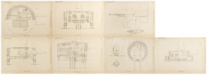 Andrew Noble Gun Turret Patent Lithograph