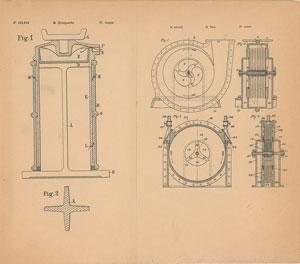 Nikola Tesla Fluid Propulsion Patent Lithograph