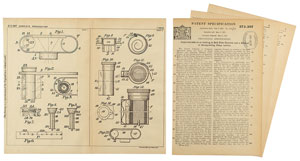 Kodak Film Roll Patent Lithograph and Specification Document