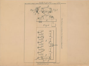 Thomas Edison and Joseph Swan Electric Fuse Patent Lithograph