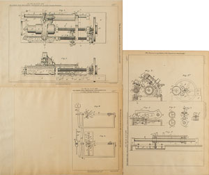 Thomas Edison and Alexander Graham Bell Phonograph Shaft Patent Lithograph