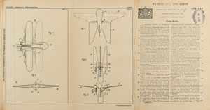 Reinhold Tiling Flying Rocket Patent Lithograph and Specification Document
