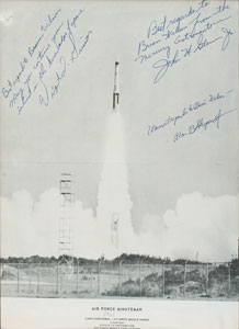 Mercury Astronauts: Grissom, Glenn, and Shepard Signed Photograph