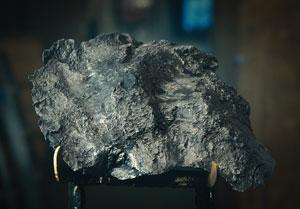 Campo del Cielo Meteorite on Custom Stand