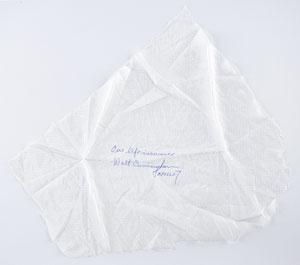 Walt Cunningham Signed Parachute Fabric