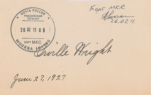 Orville Wright Signature Flown on the International Space Station