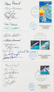 Shuttle Crew Signed Flown ISS Covers