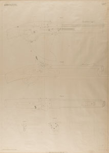 Alexander Henry Rifle Patent Lithograph