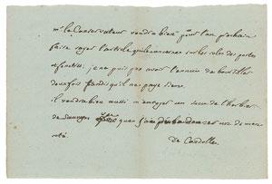 Augustin Pyramus de Candolle Autograph Letter Signed