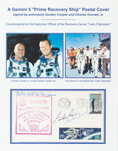 Gemini 5 Crew-Signed Recovery Ship Cover