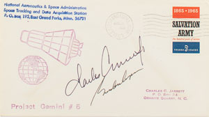 Gemini 5 Crew-Signed Tracking Station Cover