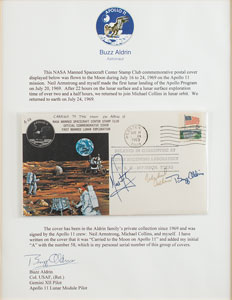 Buzz Aldrin's Apollo 11 Flown Crew-Signed Type 1 Cover