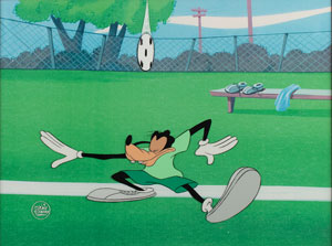 Goofy production cel from Sport Goofy in Soccermania