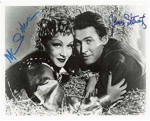 James Stewart and Marlene Dietrich