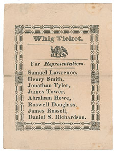 Whig Party Election Ticket