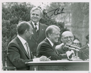 Jimmy Carter and Menachem Begin