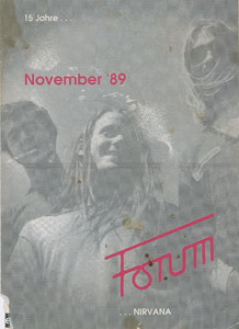 Nirvana: German 1989 Tour Booklet and Backstage Passes