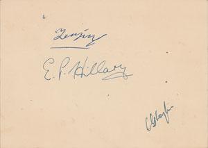 Edmund Hillary and Tenzing Norgay