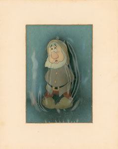 Sneezy production cel from Snow White and the Seven Dwarfs