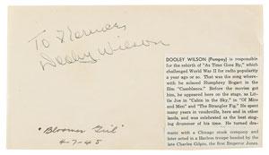 Casablanca: Dooley Wilson