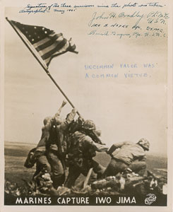 Iwo Jima: Bradley, Hayes, and Gagnon
