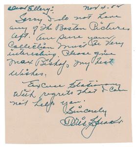 Tris Speaker Autograph Letter Signed