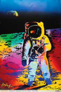Buzz Aldrin and Peter Max
