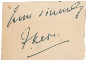 Frankenstein: Frederick Kerr