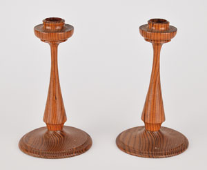 White House 1927 Wood Candlesticks