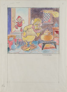 Carl Barks production drawing of Scrooge McDuck
