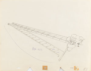 Mickey Mouse production drawing from Mickey's Fire Brigade