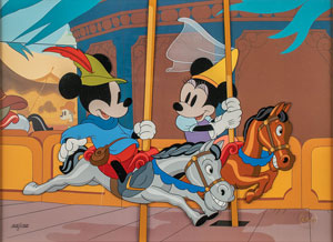 Mickey and Minnie Mouse limited edition cel from Brave Little Tailor