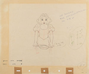 Snow White production drawing from Snow White and the Seven Dwarfs