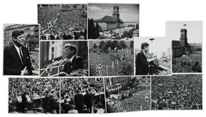 John F. Kennedy in Berlin Group of (20) Original Photographs
