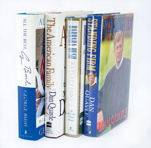 George Bush, Barbara Bush, and Dan Quayle