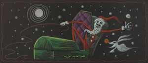 Jack Skellington and Zero concept storyboard  from The Nightmare Before Christmas