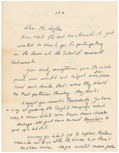 John F. Kennedy, Jr Autograph Letter Signed