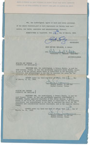 Jack Ruby Signed Agency Contract